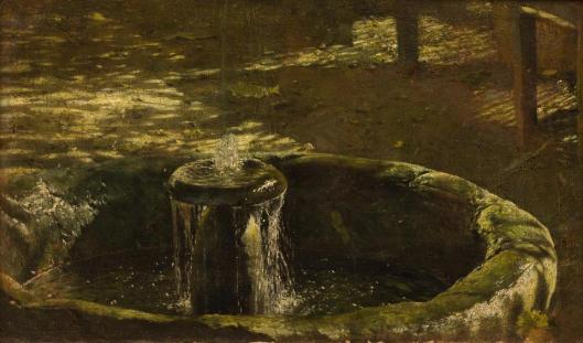 Aleksander Gierymski Studium do Altany z fontanna ok 1876 MNK Cracow