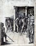 Andrea Mantegna The Flagellation of Christ ca 1465 70 engraving