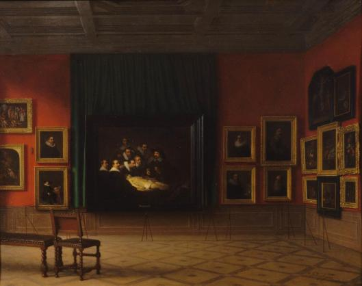 Antoon François Heijligers Interior of the Rembrandt Room in the Mauritshuis in 1884 1884 Mauritshuis The Hague