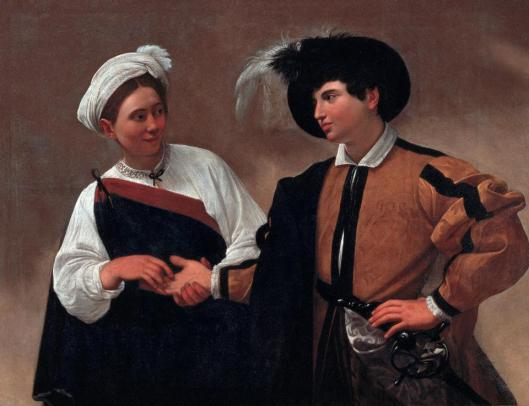 Caravaggio Fortune Teller (Good Luck) ca 1595 Pinacoteca Capitolina Rome