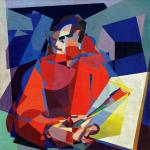 Enrico Prampolini Simultaneous Self-Portrait (Autoritratto simultaneo) ca 1923 Guggenheim Museum New York