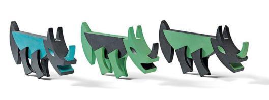 Fortunato Depero Series of 8 Rhinoceros 1923 remade detail MART Museo di arte moderna e contemporanea di Trento e Rovereto