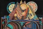 Fortunato Depero Skyscrapers and Tunnels (Gratticieli e tunnel) 1930 tempera MART Museo di arte moderna e contemporanea di Trento e Rovereto