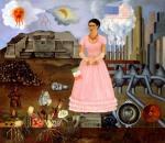 Frida Kahlo Self-Portrait at the Borderline Between México and the United States 1932 Manuel y María Rodriguez de Reyero collection