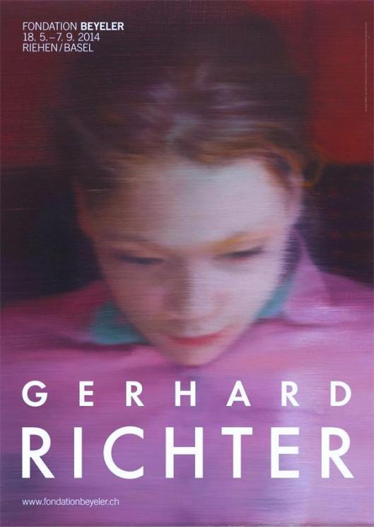 Gerhard Richter exhibition poster Fondation Beyeler 2014