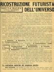 Giacomo Balla Fortunato Depero Futurist Reconstruction of the Universe Leaflet Milan Direzione del Movimento Futurista 1915
