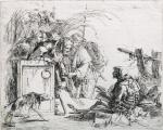 Giovanni Battista Tiepolo Death giving audience 1743 etching