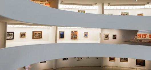 Installation view of the exhibition Italian Futurism 1909 44 Reconstructing the Universe Solomon R Guggenheim Museum New York