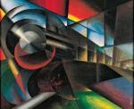 Ivo Pannaggi Speeding Train (Treno in corsa) 1922 Fondazione Carima Museo Palazzo Ricci Macerata
