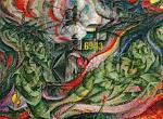 Umberto Boccioni States of Mind Triptych (Stati d'animo) 1911 (later version) The Farewells MoMA New York