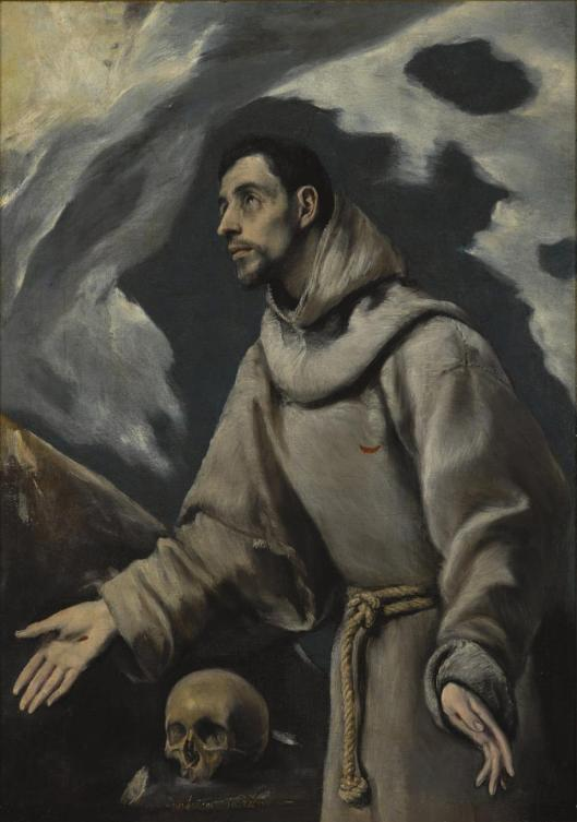 El Greco The Ecstasy of St. Francis of Assisi ca 1575 80 Diocesan Museum Siedlce