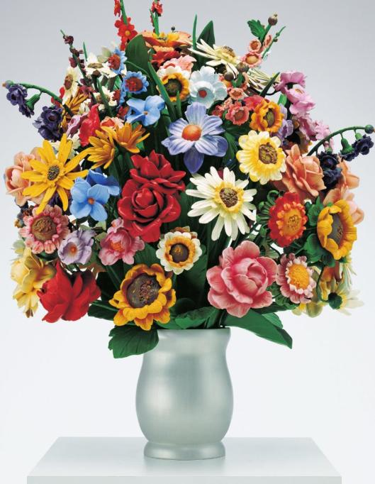 Jeff Koons Large Vase of Flowers 1991