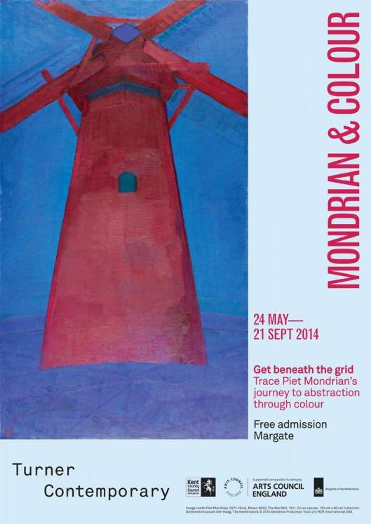 Mondrian and Colour Turner Contemporary Margate poster