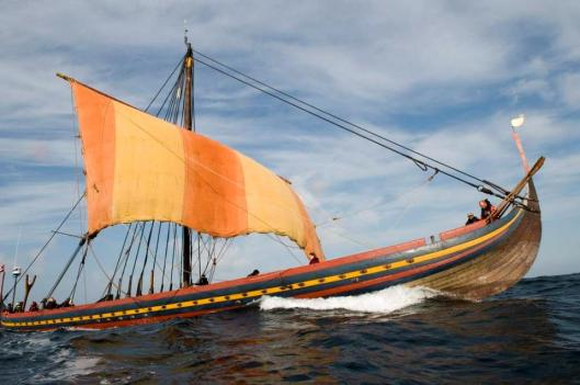 Reconstruction of the warship Skuldelev 2 original built ca 1042 near Dublin