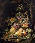 Abraham Mignon A Bird Nest in a Fruit Basket Alte Meister Staatliche Kunstsammlungen Dresden