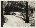 Emil Nolde Hamburg Pier 1910 etching aquatint