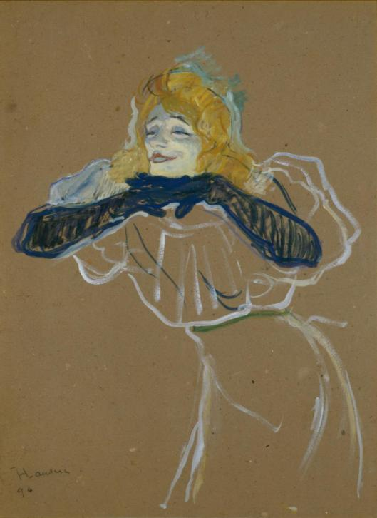 Henri de Toulouse-Lautrec Yvette Guilbert singing 1894 Pushkin State Museum of Fine Arts Moscow