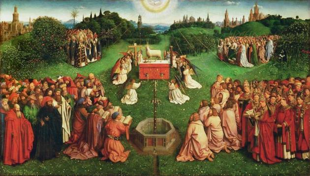 Hubert and Jan van Eyck Adoration of the Mystic Lamb Saint Bavo Cathedral