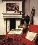 Jan van der Heyden Room Corner with Curiosities 1712 Szepmuveszeti Muzeum Budapest