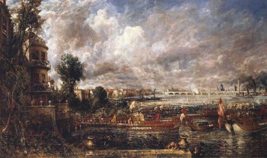 John Constable Opening of Waterloo Bridge exhibited 1832 Tate London