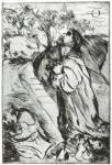 Lovis Corinth Christus am Ölberg II (Christus in Gethsemane) 1915 etching drypoint