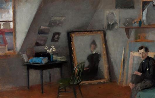 Olga Boznańska Wnętrze pracowni 1895 MNW Muzeum Narodowe w Warszawie
