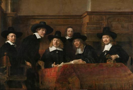 Rembrandt van Rijn Sampling Officials of the Amsterdam Drapers' Guild The Syndics ca 1662 Rijksmuseum