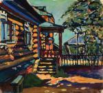 Wassily Kandinsky Achtyrka–Front Entrance to the Dacha 1917  Pompidou Paris