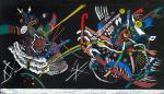 Wassily Kandinsky Panel design for the Juryfreie exhibition Wall A 1922 gouache Centre Pompidou Paris
