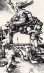 Albrecht Durer Witch Riding Backwards on a Goat 1500 engraving
