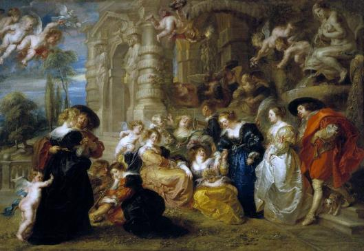 Peter Paul Rubens Garden of Love 1633 34 Prado Madrid