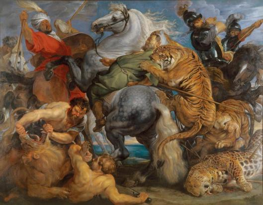 Peter Paul Rubens Tiger Lion and Leopard Hunt ca 1617 Musee de Rennes