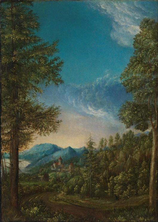 Albrecht Altdorfer Landscape with Castle ca 1520 30 Alte Pinakothek Munich