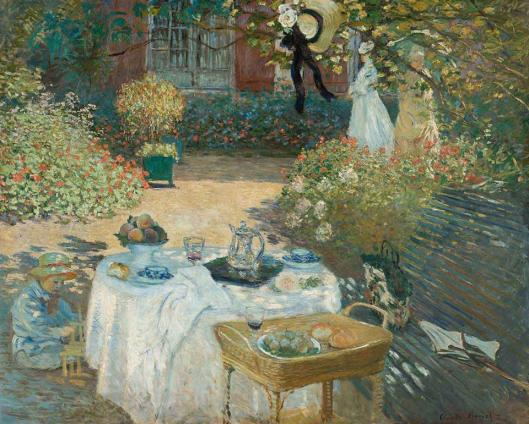 Claude Monet Luncheon Garden at Argenteuil 1874 Musée d'Orsay Paris