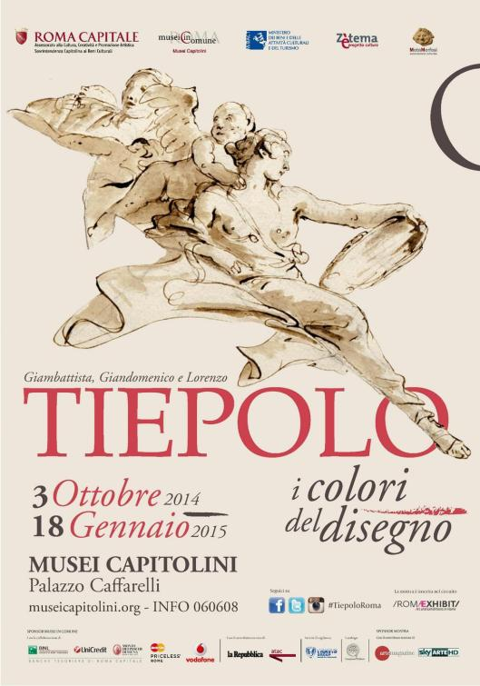 Tiepolo The Colours Of Drawings exhibition Rome poster