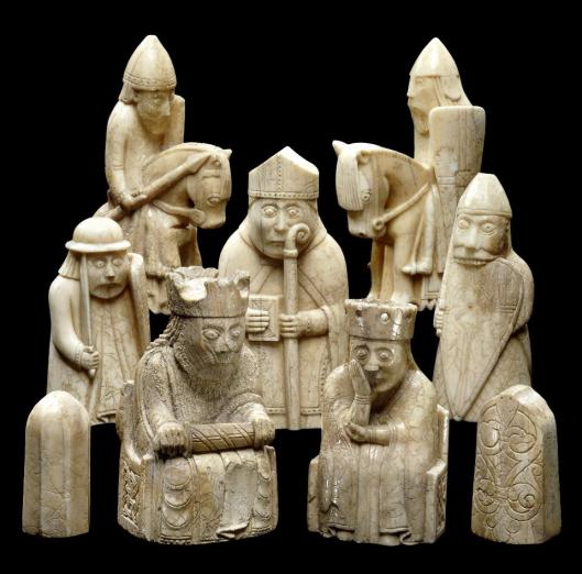 Lewis Chessmen series ca 1150 75 British Museum London BM