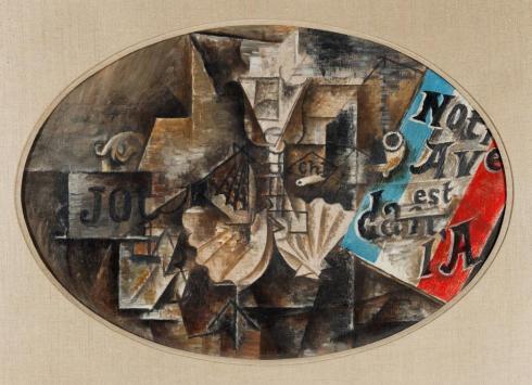 Pablo Picasso  Scallop Shell Notre Avenir est dans l'Air 1912 Lauder Met New York