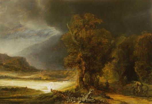 Rembrandt Landscape with Good Samaritan 1638 Muzeum XX Czartoryskich Krakow Cracow