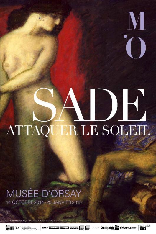 Sade Attacking the Sun exhibition poster Orsay Paris