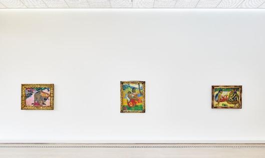 Exhibition Paul Gauguin Beyeler Basel with the works Aha oe feii 1892 Nafea faaipoipo 1892 Parau api 1892