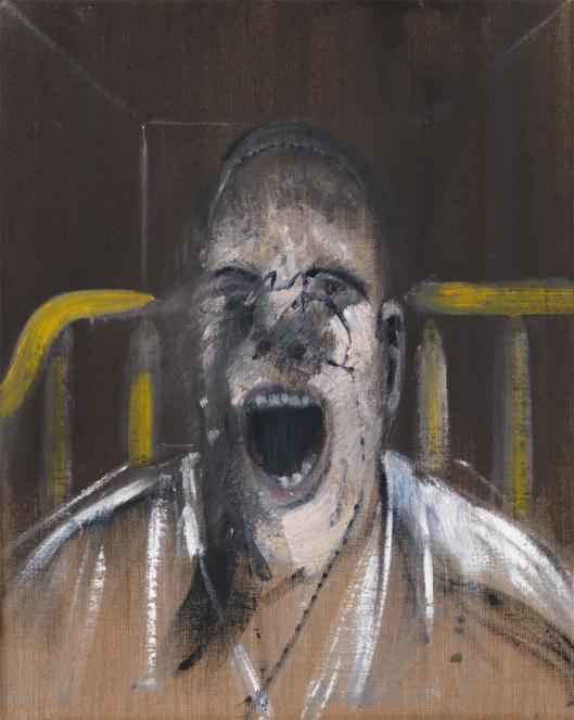 Francis Bacon Study for the Head of a Screaming Pope 1952 Yale Center for British Art New Haven