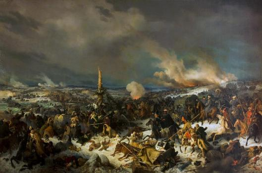 Peter von Hess Battle of the Berezina River 29 November 1812 1844 Hermitage Museum St Petersburg