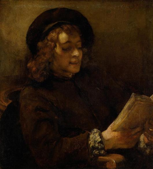 Rembrandt Titus Reading ca 1657 58 KHM Vienna