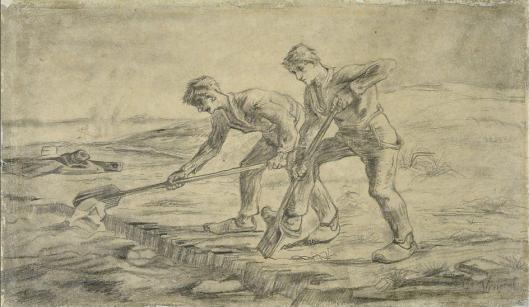 Vincent van Gogh The Diggers after Jean-François Millet 1880 Mons