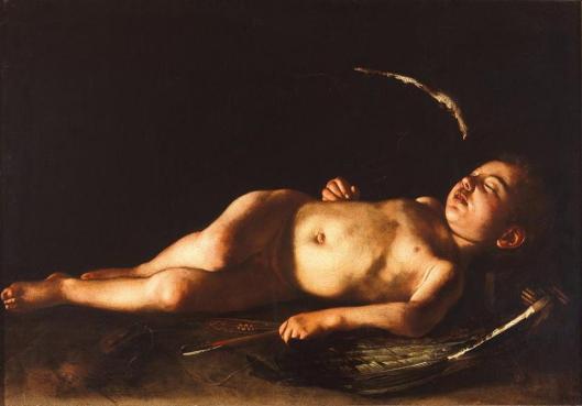 Caravaggio Sleeping Cupid 1608 Galleria Palatina Palazzo Pitti Florence
