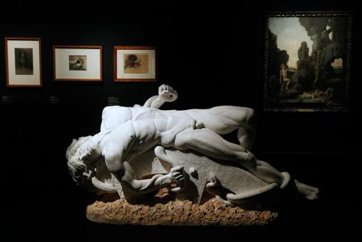 Henri Pontier Ixion King of the Lapiths tortured for his Love for Junon exhibition Sade Attaquer le soleil Orsay Paris