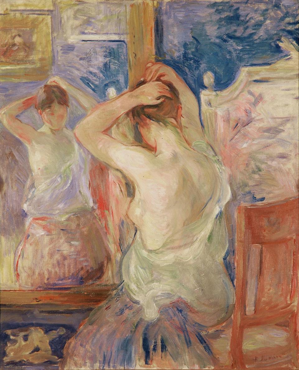 Berthe Morisot In Front of the Mirror 1890 Fondation Pierre Gianadda  Martigny | artdone