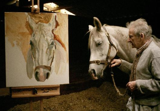 David Dawson Lucian Freud with Grey Gelding 2003