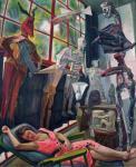 Diego Rivera Painter's Studio or Lucila and the Judas Dolls 1954 Acervo Patrimonial, Secretaría de Hacienda y Crédito Público Mexico