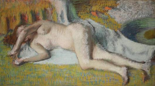 Edgard Degas After the Bath Reclining Nude 1885 90 Collection Nahmad Switzerland